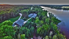 Elk Lake Eco Resort Aerial