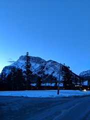 First morning in Banff