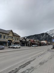 Back in downtown Banff