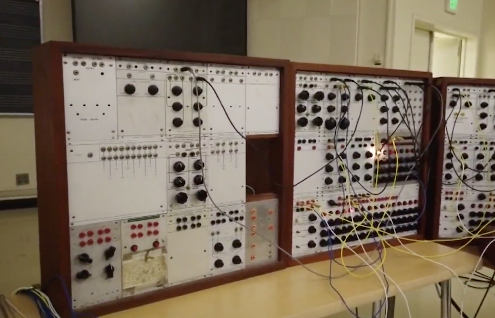 Synth repairman accidentally gets high after touching old LSD on a vintage '60s synthesizer